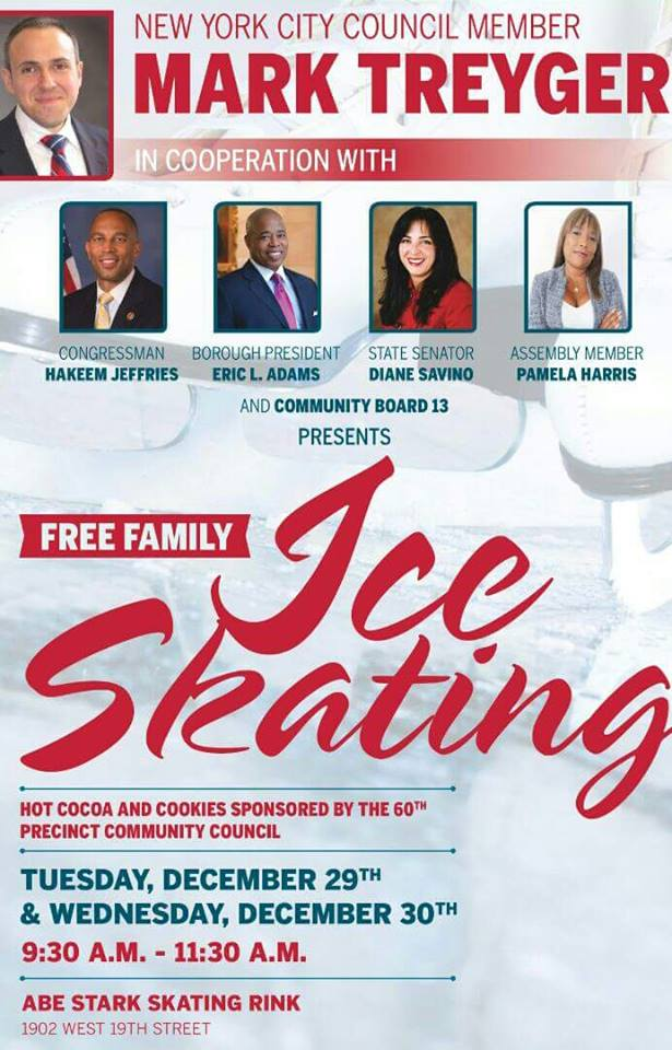 Free Ice Skating in Brooklyn on 12/29 and 12/30